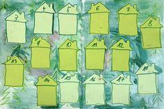 Obsazování doměčků - desková hra - 2. třída - hraje se se 3 kostkami a čísla se sčítají