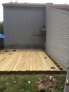 From Dirt to Deck How to Build a GroundLevel Deck The Wolven House Project Backyard Projects, Backyard Patio, Home Projects, Building A Floating Deck, Building A Pergola, Pergola Roof, Pergola Kits, Building Building, Pergola Ideas