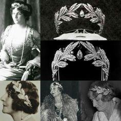 Diamond Laurel Tiara : Princesa Maria Bonaparte. Princesa de Grecia & Dinamarca
