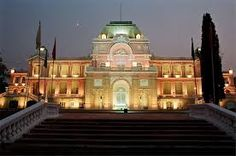 The Jagatjit Palace in Kapurthala, India, was inspired by the famous French Palaces of Fontainebleau & Versailles.   The Jagatjit Palace Kapurthala by night.