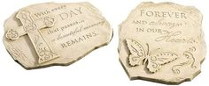 Gift Craft 11.7-Inch Polystone Sentiment Design Stepping Stones, Small, Cream *** Discover this special product, click the image : Garden statues