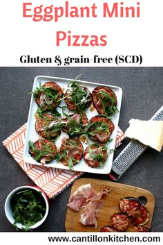 A Gluten & grain-free pizza base for your favourite toppings. Also, suitable for the Specific Carbohydrate Diet (SCD). Eggplant Pizzas, Specific Carbohydrate Diet, Appetizers For Party, Thanksgiving Recipes, Grain Free, Healthy Snacks, Grains, Gluten, Stuffed Peppers