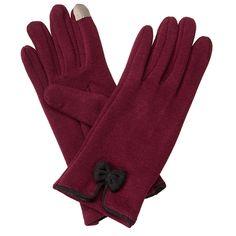 Gameday Bow Gloves Garnet/Black | underthecarolinamoon.com
