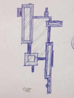 """Original sketch of the """"Quebus""""  ADOPT A PROJECT - by Marcus from Marvellous Mirrors."""