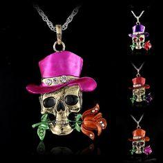 Vintage Retro Skeleton Skull Skeleton Charm Pendant | To save upto 50% visit our website  uniquefashionusa.com