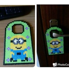 Minion door hanger hama beads by un_mondo_tutto_mio