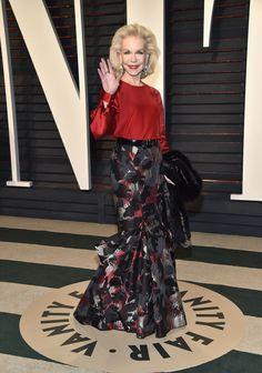 Lynn Wyatt in Zac Posen attends the 2017 Vanity Fair Oscar Party hosted by Graydon Carter.