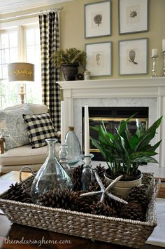 The Endearing Home.... How to incorporate two themes. Christmas and Beach House.♥