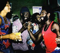 Lee Perryand The Upsetters - at The Black Ark, Dancehall Reggae, Reggae Music, Afro, Lee Perry, Peter Tosh, Reggae Artists, Jamaican Music, People Dancing, Rocker Style