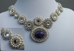 Argentum Regale- Beadembroidery necklace. My aim was to make a necklace worthy of a bride.