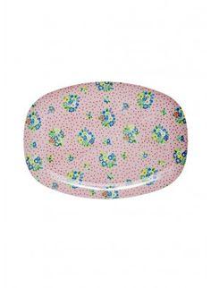 rice - Melamin Teller Vintage Flower oval