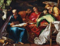 画家: アブラハム・ブルーマールト  タイトル: 4人の福音宣明者 製作年: 1612 - 1615 収蔵: プリンストン大学美術館