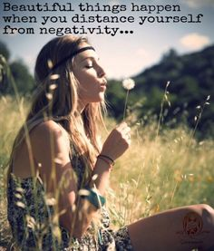 Beautiful things happen when you distance yourself from negativity... WILD WOMAN SISTERHOODॐ #WildwomanSsterhood #wildwoman #wildwomanmedicine #embodyyourwildnature