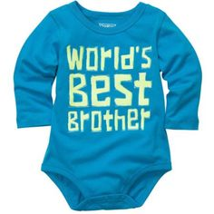 Baby Boys Long-Sleeve OshKosh Original Slogan Bodysuit