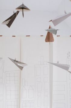 DIY Paper Airplane Party Decor:: A Simple Idea turned Party Game