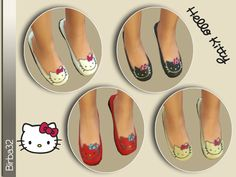 The Sims Resource: Hello Kitty shoes for children by Birba32 • Sims 4 Downloads