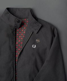 Fred Perry - Harrington With Rose Print Lining