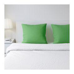 IKEA - DVALA, Kopfkissenbezug, 80x80 cm, , Baumwolle ist hautsympathisch und weich.