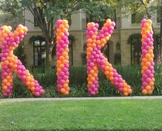 balloon letters for yard decor