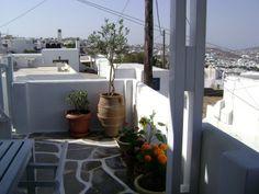 My veranda in Mykonos, Greece Mykonos Greece, Most Beautiful, Patio, Island, World, Outdoor Decor, Plants, Home Decor, Decoration Home