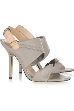 Sinead two-tone leather sandals by Diane von Furstenberg