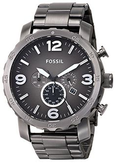 Fossil Men's JR1437 Nate Chronograph Smoke Stainless Steel Watch Fossil http://www.amazon.com/dp/B009LSKPYI/ref=cm_sw_r_pi_dp_snW2tb00TTPWQJVA