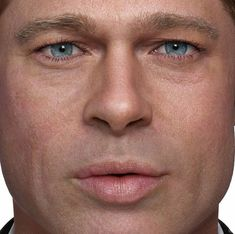 This CGI Potrait of Brad Pitt makes you want to update your workflow Face Study, Skin Shades, Wrinkled Skin, Photoshop Elements, Male Face, Brad Pitt, Face Skin, Face Art, Sculpting