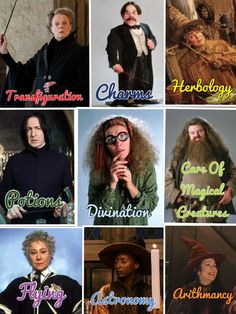 I made this collage of the different classes at Hogwarts. Hope you like it!!!