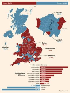 Brexit results: by local authority, very close voting 🇬🇧 County Flags, Map Of Britain, Semitic Languages, South Holland, British People, Alternate History, Historical Maps, British Isles, World Maps