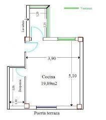 M s de 1000 im genes sobre planos de cocinas en pinterest for Cocina medidas minimas