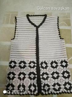 Şıklık Gilet Crochet, Crochet Cardigan Pattern, Crochet Jacket, Crochet Blouse, Crochet Poncho, Crochet Scarves, Crochet Clothes, Crochet Stitches, Free Crochet