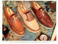 1954 Jarman Shoes, casual summer mens shoes