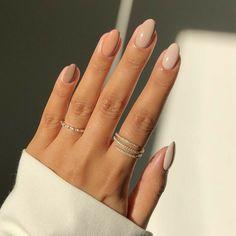 Beige Nails, Neutral Nails, Neutral Wedding Nails, Neutral Nail Designs, Gradient Nails, Cute Simple Nail Designs, Dark Nude Nails, Simple Elegant Nails, Beige Nail Art