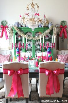 Dining Room and Kitchen Christmas Home Tour Spruce Christmas Tree, Christmas Candles, Christmas Home, White Christmas, Christmas Holidays, Christmas Decorations, Holiday Decor, December Holidays, Xmas
