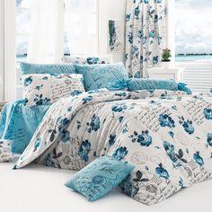 Lenjerie de pat double Begenal Name Turquise. Preț: 149 lei (livrare gratuită).
