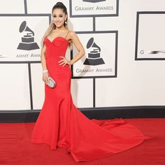 Sexy Red Spaghetti Strap Prom Dresses Inspired By Ariana Grande Prom Gowns 2016 Formal Party Dresses Grammy Awards For Celebrity