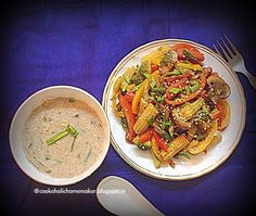 Let's Cook!: Finger Millet & Cream of Corn soup with Stir Fried...