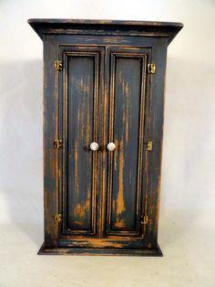 CJs Aged Blue Tall Wardrobe with Upper Shelf | eBay