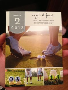 Golf theme Save The Date, by love and sparrows events. https://www.facebook.com/loveandsparrowsevents