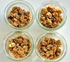 homemade bircher yoghurt breakfast brunch