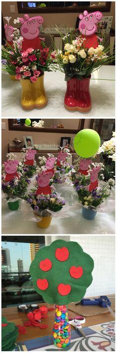 Ideias decoração Peppa Peppa Pig Birthday Decorations, Pig Birthday Cakes, 2nd Birthday Party Themes, Third Birthday, Husband Birthday, Birthday Ideas, Bolo Da Peppa Pig, Cumple Peppa Pig, Peppa Halloween