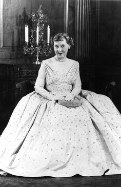 Mamie Eisenhower: The General's Lady as First Lady, pictured here in her Inaugural Gown    As the Eisenhowers prepared to enter the White House, newspaper and magazine stories discussed Mamie Eisenhower's clothes, her bangs, her happy family, and her open and friendly style. The stories assured Americans that the new first lady's years of experience as a military wife, including entertaining dignitaries as the wife of the NATO Supreme Allied Commander Europe, made her uniquely qualified to…