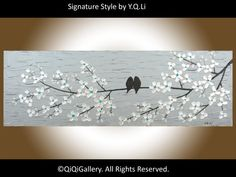 Abstract Landscape Painting Heavy Texture Impasto by QiQiGallery, $185.00