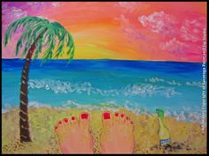 FEET IN THE SAND at Saratoga Paint & Sip Studio