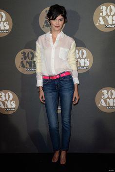 Audrey Tautou à la soirée des 30 ans de Canal+.