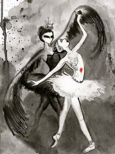 theballetbag: More Black Swan Fan Art! :)