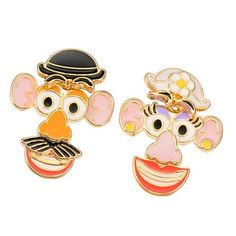 Mr. & Mrs. Potato Head Earrings