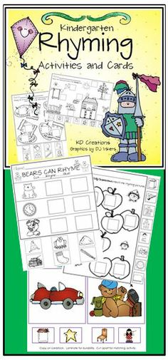 Kindergarten Rhyming, it's all in the timing! Fun activities for your young learners to master the concept of rhyming.