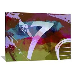 Naxart 'Racing 7' Painting Print on Wrapped Canvas Size: