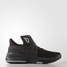 huge selection of de48b 4c93b Adidas Dame 3 Lights Out Shoes (Core Black   Black   Multi Solid Grey)